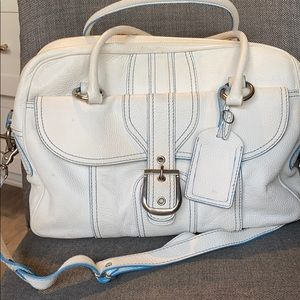 ISABELLA FIORE white leather shoulder bag